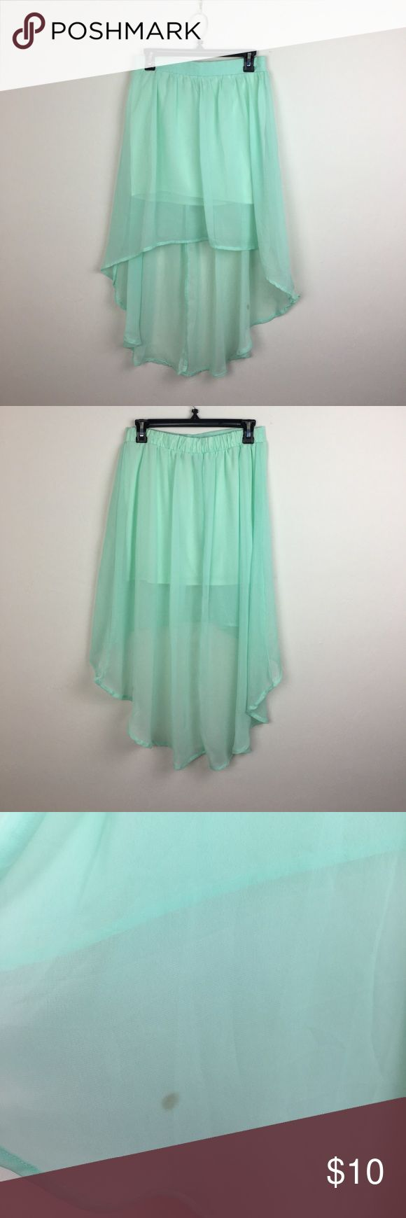 High Low Mint Green Skirt High Low asymmetrical mint green Skirt   Small stain on tail of Skirt  Great Condition Charlotte Russe Skirts High Low