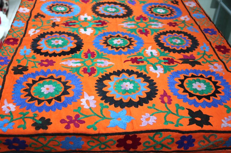 SUZANI TABLE COVER, UNIQUE & ONE OF A KIND