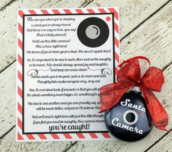 Check out this item in my Etsy shop https://www.etsy.com/listing/480518202/santa-camera-glass-ornament-santa-cam