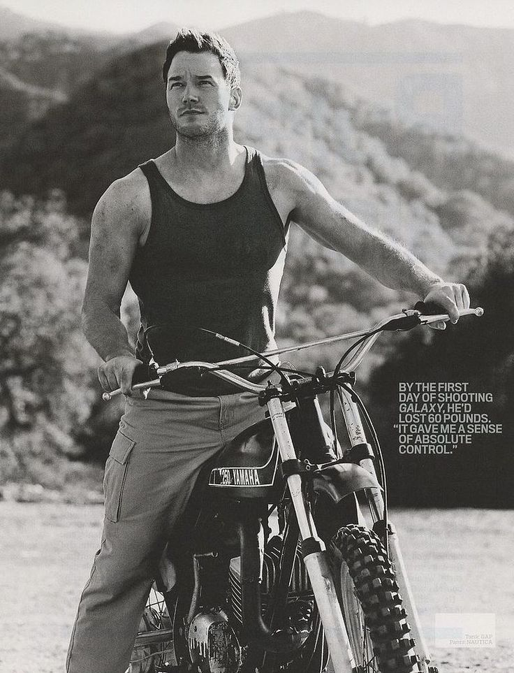 Welcome to the Chris Pratt gun show... I love his humor, and yes, he got wickedly buff which is never a negative.