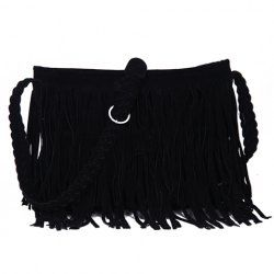 $8.98 Fashion Women's Crossbody Bag With Fringe and Weaving Design
