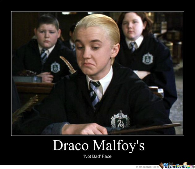The first time I watched Harry Potter and the Sorcerer's Stone, I thought Draco was really cute I thought Harry was cute too lol