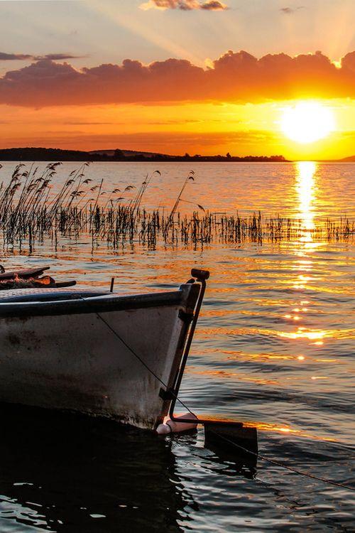 Sunset at Lake Uluabat, Bursa, Turkey