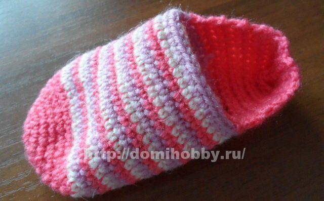 Детские носки крючком