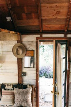 """grayskymorning: """" Coralie's Cozy, Southwest-Inspired One Room Cabin in the Pacific Northwest """""""