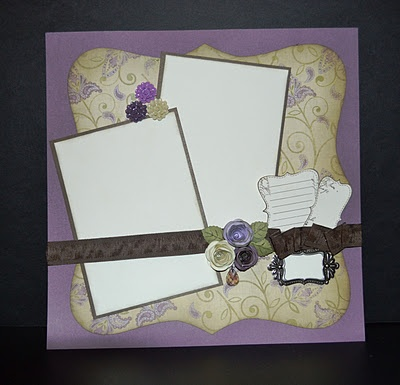Sonoma Layout with heirloom accessories and #Cricut AP Cartridge Flowers #CTMH