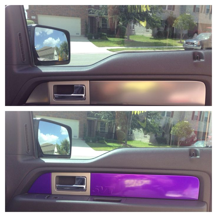 Interior door panel accent, 2014 Ford Raptor, purple  vinyl by jerrydlittle@yahoo.com
