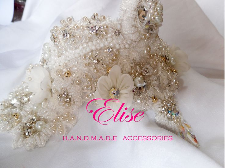 lace full bead crystals wedding crown .. so beautiful .. designed by elise handmade :)