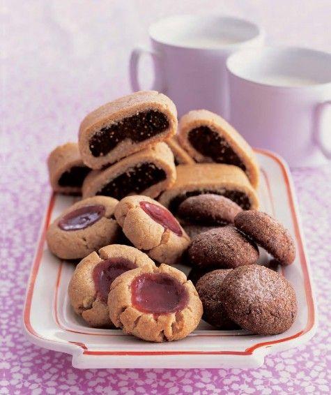 Barley flour cookies to use some of the local AK barley flour......Blythe Thumbprint, Pescetarian Recipe, Thumbprint Cookies, Healthy Cookies, Meals Recipe, Cookies Recipe, Flour Cookies