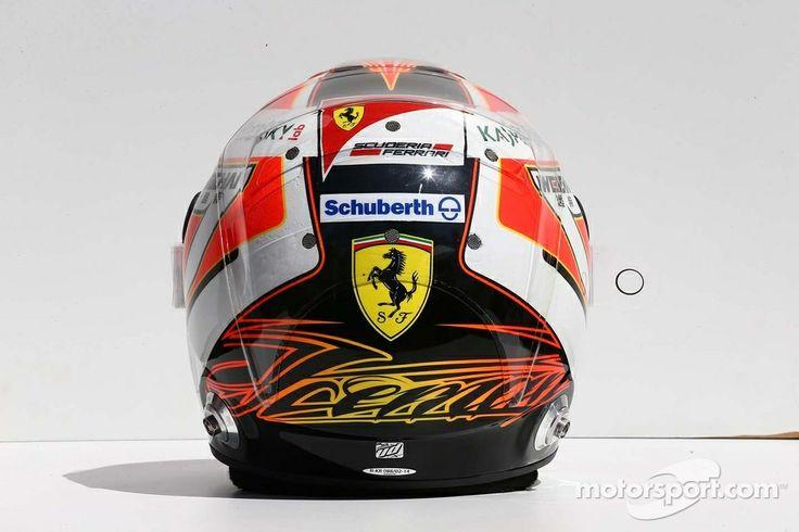 Kimi Raikkonen Ferrari 2014 Back F1 Helmets