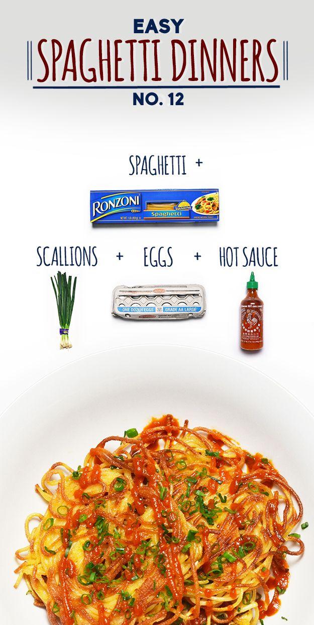 Spaghetti Scallion Pancakes   19 Delicious Spaghetti Dinners