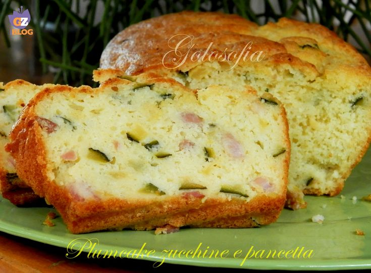 Plum cake zucchine e pancetta, ricetta antipasti