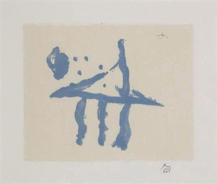ROBERT MOTHERWELL - SUMMER TRIDENT - KUNZT.GALLERY http://www.widewalls.ch/artwork/robert-motherwell/summer-trident/ #Print
