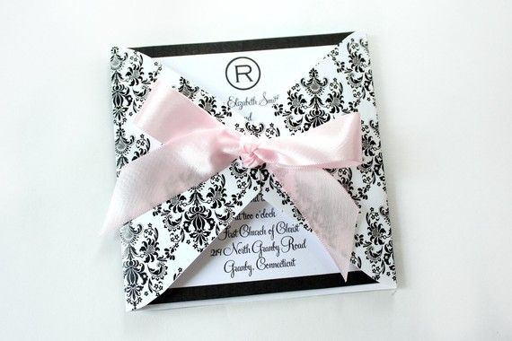 EDITABLE Regal Damask Square Wrap Printable Invite by ThePoshEvent, $5.00
