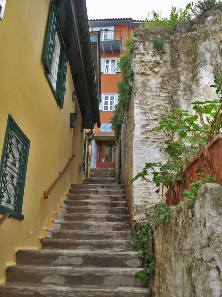 Narrow alley in the old town, Nafplion, Greece - across the street from our hotel - pxe