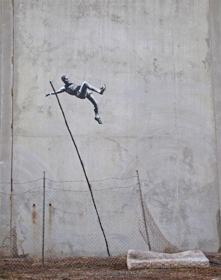 Banksy - london olympics - Jump!