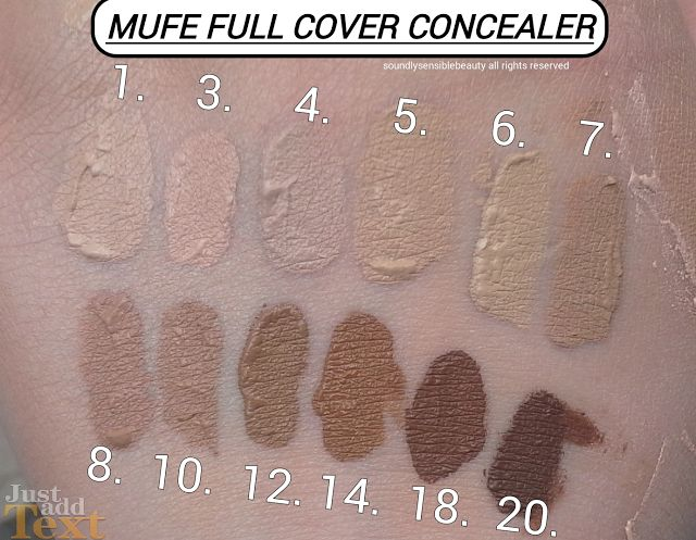 Makeup Forever (M.U.F.E) Full Cover Concealer swatches