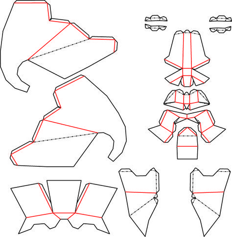 Elephant Mask template - Low Poly DXF by theshort - Thingiverse