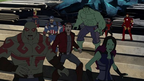 The Guardians & The Avengers Team Up For 'Marvel's Guardians Of The Galaxy' Season Two Premiere #Marvel