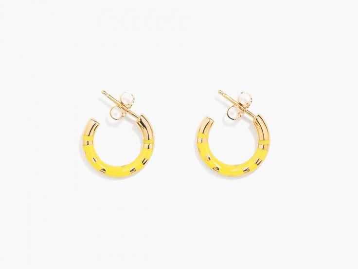 Positano polka-dot  hoop earrings - Aurélie Bidermann