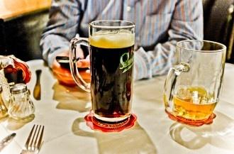 Dobre Czech #pivo at a #Czech #restaurant on Karl Marx Allee