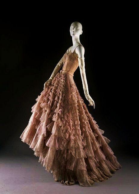 Christian Dior, 'Eugénie' 1949: Evening Dresses, Vintage Dior, Christian Dior, Gowns, Dior Dresses, 1948 49, House, Metropolitan Museums, Ruffles