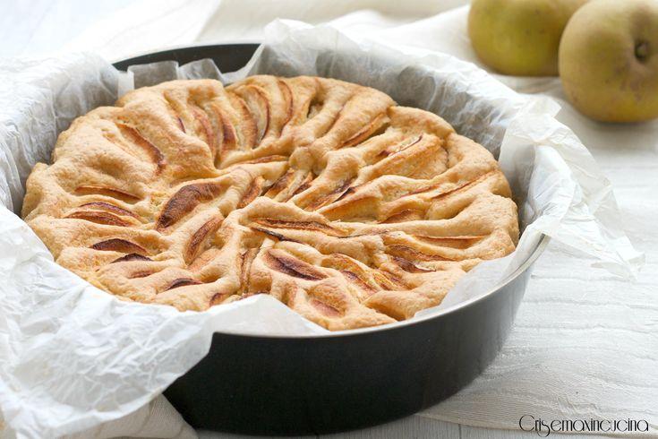 Torta all'acqua light alle mele, ricetta facile e veloce -