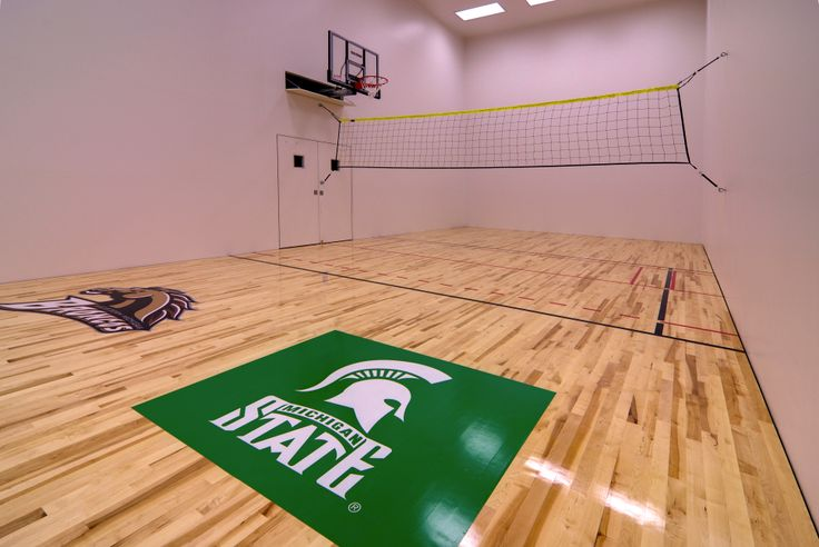 In Home Regulation Racquetball Court Custom Polished Wood