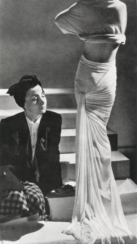 The queen of #draping Madeline Vionnet with one of her gorgeous creations