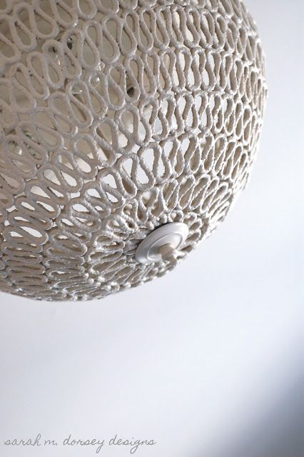Sarah m dorsey designs diy folded rope dome pendant light how to