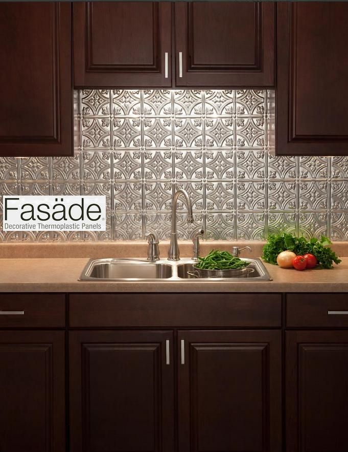 Fasade backsplash quick and easy to install great - Renter s wallpaper home depot ...