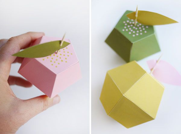 17 best images about paper crafts bags boxes baskets on for Diy apple boxes