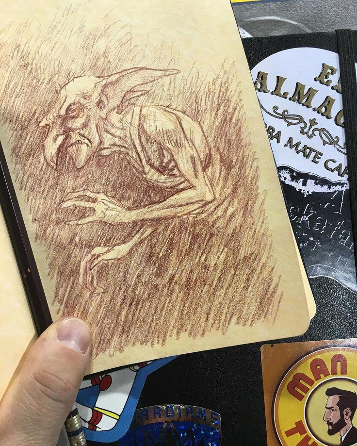 Quick #Kreacher doodle in my friend's #HarryPotter themed #sketchbook. #art #comics #CCEE2016 #theRAIDstudio by ramonperez