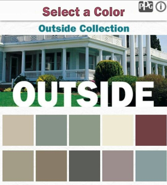 Color combinations from ppg paint application outside outdoor exterior color combos - Ideas for exterior paint colors collection ...