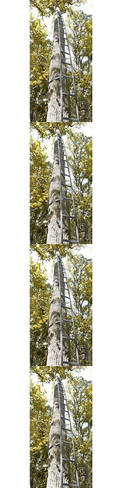 Tree Stands 52508: Deer Hunting Ladder Tree Stand 20Ft Sniper Rifle Bow Treestand Man Climbing New BUY IT NOW ONLY: $61.0