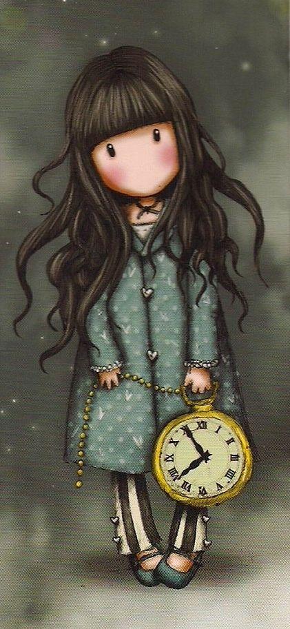 {Art} Gorjuss by Suzanne Woolcott #art #Woolcott #illustration #clock ✎