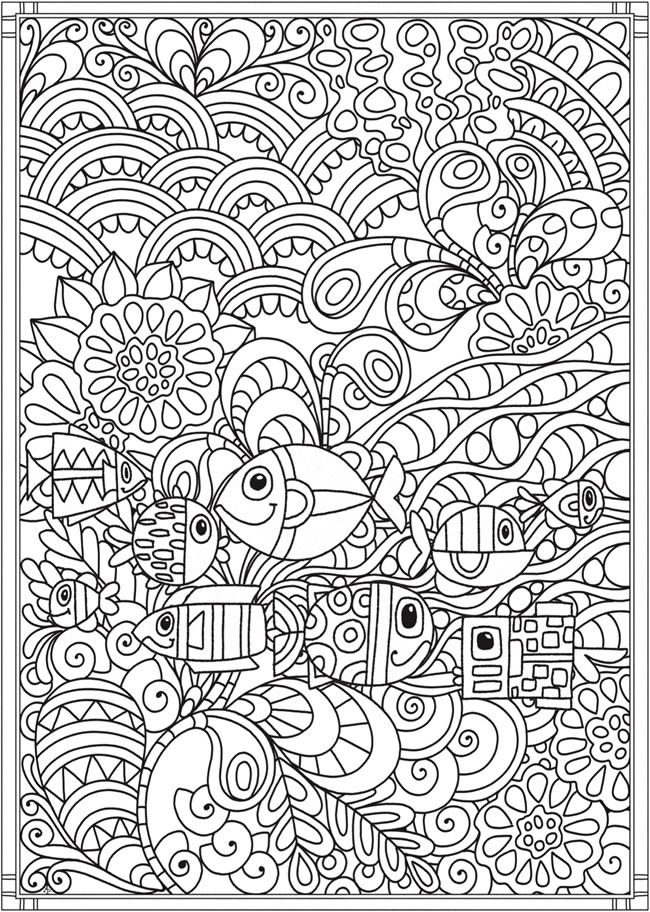 Creative Haven Spectacular Sea Life Designs Coloring Book 6 Sample Pages Dover Coloring Pages Designs Coloring Books Coloring Books