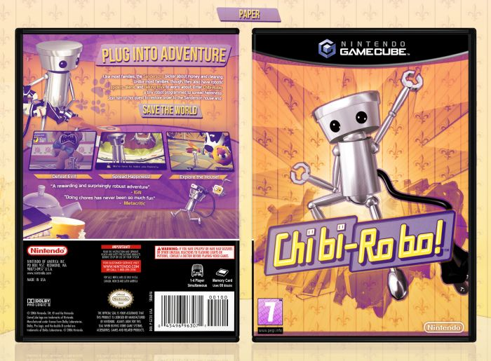 Chibi Robo Gamecube box art cover by Paper