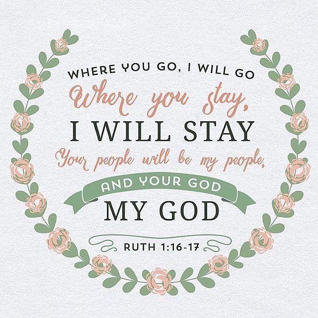 Ruth 1:16-17 #BiblicalVerse