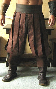 Slashed trousers -- sewn the same as a pleated skirt. I can totes do this!