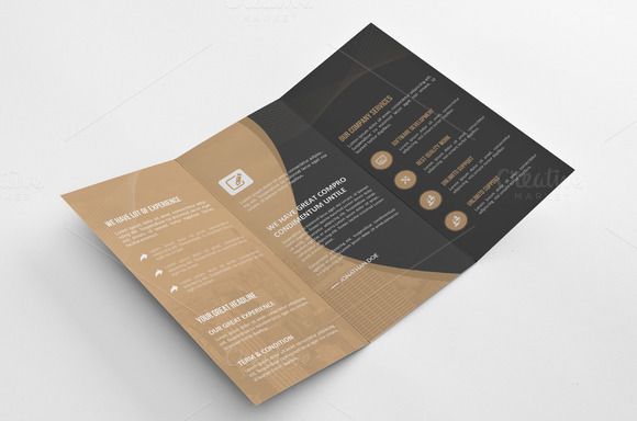 Corporate Tri Fold Brochure by Cristal Pioneer on Creative Market