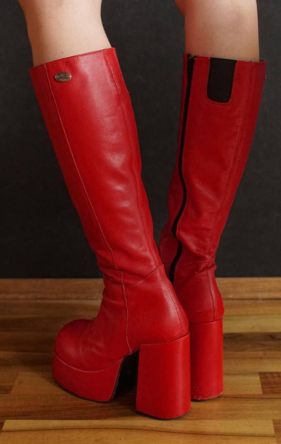 3d4a8abece980a BUFFALO T24400 CULT 38 platform boots red 90 s Club Kid Grunge 90s ...