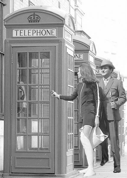 The Avengers: promotional still of Patrick Macnee as John Steed Diana Rigg as Emma Peel.