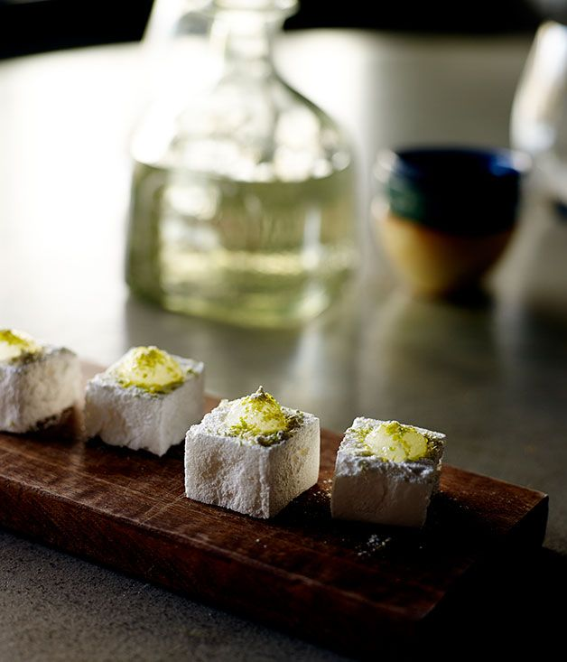 Australian Gourmet Traveller recipe for Tequila Slammer marshmallows by Sam Ward from El Publico in Perth.