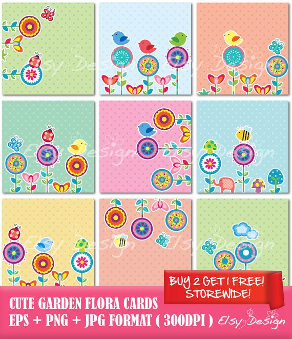 17 best Floral inspired clip art and layout design images on ...