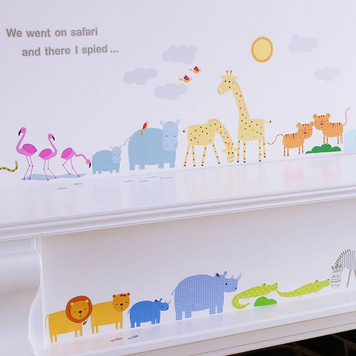 Childrens Safari Wall Stickers from notonthehighstreet.com