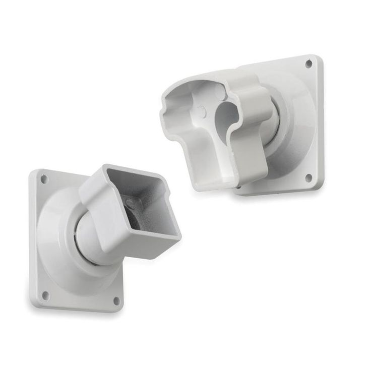 Best Gilpin 4 Pack White Aluminum Swivel Handrail Brackets 400 x 300