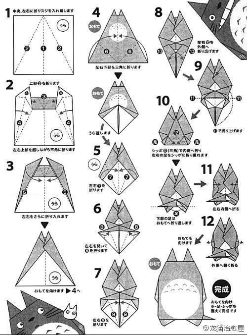 看着略复杂,Origami Crafts for Kids, Free Printable Origami Patterns, Tutorial, crafts, paper crafts, printable kids activities, origami animal patterns, cute panda origami paper crafts, origami tutorial,