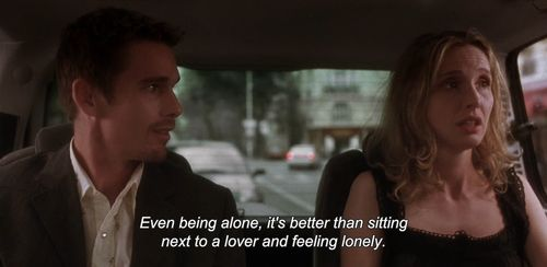 lovers, alone, and before sunset image