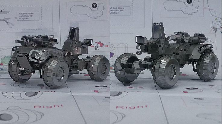 Metal Earth Build - UNSC Gungoose - Halo